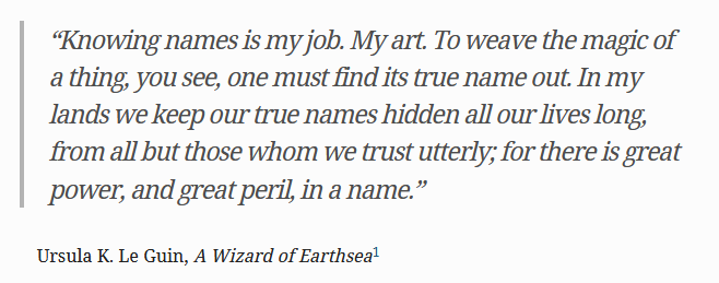Quote from Wizard of Earthsea